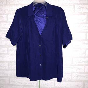 Lafayette 148 NY silk button blouse sz 6 B00